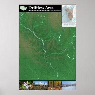 Poster sin propósito del mapa del área (los 24x36i