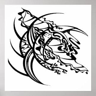 Poster sin título 2 del tatuaje tribal póster