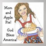Poster size2, GodBlessAmerica de la mamá y de la e