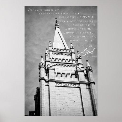 Poster-SLC LDS Temple 4