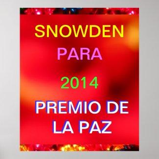 Póster - SNOWDEN PARA 2014 PREMIO DE LA PAZ Print