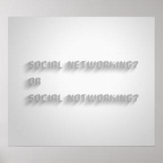 Poster social de Notworking
