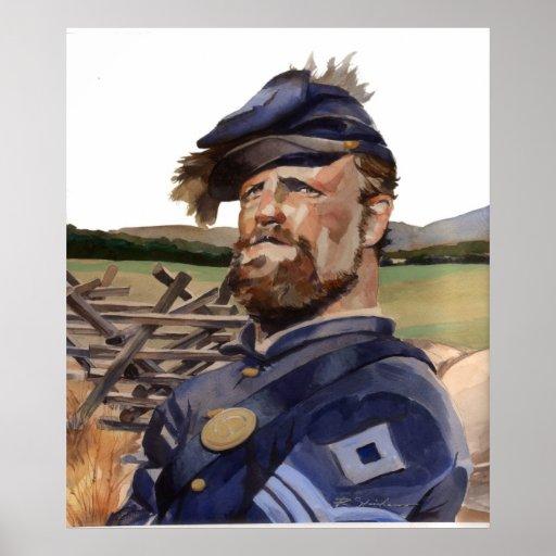 Poster, soldado de la guerra civil póster