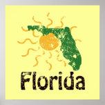 Poster soleado de la Florida