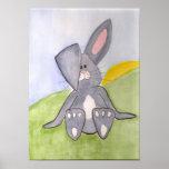 Poster soleado del conejito