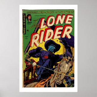 Poster solitario de la cubierta de cómic del vinta