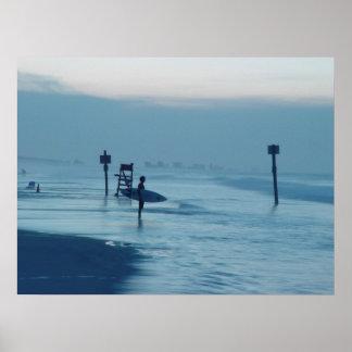 Poster solitario de la marea de la playa de FL de