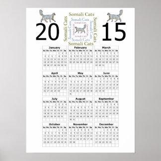 Poster somalí del calendario del gato 2015