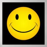 Poster sonriente amarillo de oro de la cara