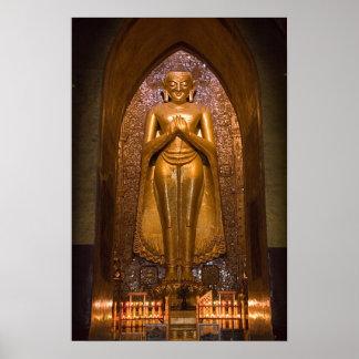 Poster sonriente de Buda