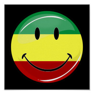 Poster sonriente del gigante de la bandera de