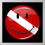 Poster sonriente redondo brillante de la bandera