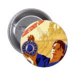 Poster soviético de la propaganda del programa esp pins