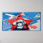 Poster soviético único, colorido del cosmonauta 19