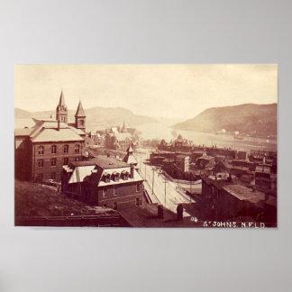 Poster, St John's, Newfoundland, 1910 Poster