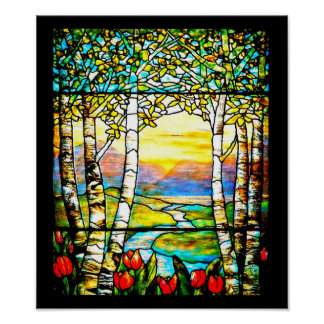 Poster-Stained Glass-Louis Tiffany 109 Poster