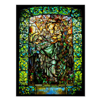 Poster-Stained Glass-Louis Tiffany 116 Poster