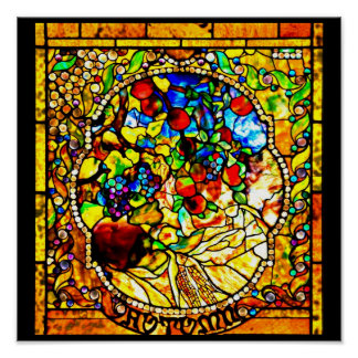 Poster-Stained Glass-Tiffany 25 Poster
