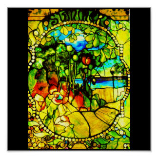 Poster-Stained Glass-Tiffany 3 Poster