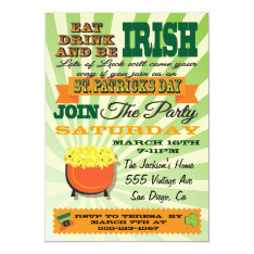 Poster Style St. Patrick's Day Party Invitation at Zazzle