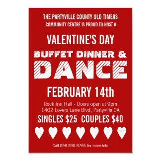 Poster Style Valentine's Day Dance Party Card