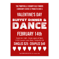 Poster Style Valentine's Day Dance Party Invitation