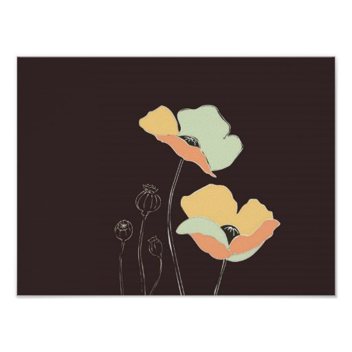 Poster suave del ~ de las flores