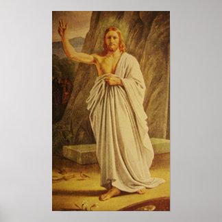 Poster subido vintage de Pascua del Jesucristo de