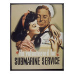 Poster submarino del servicio