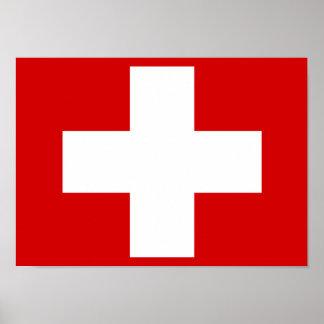 Poster suizo de la bandera