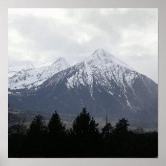 Poster suizo de las montañas