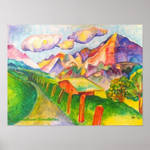 Poster suizo del paisaje