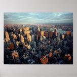 POSTER Sun on New York City ~Distant Chrysler Bldg