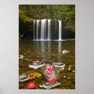 Poster superior de Oregon de las caídas de la cala