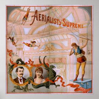 Poster SUPREMO del VODEVIL del acto del trapecio d