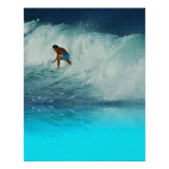 Poster Surfer Girl 2 Rainbow Bay Australia