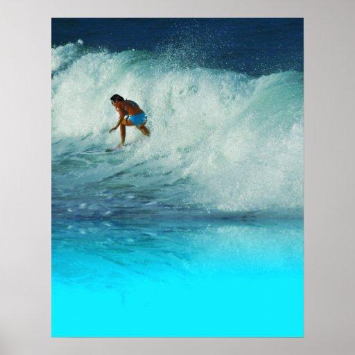 Poster Surfer Girl 2 Rainbow Bay Australia