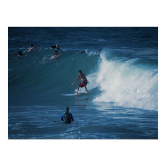 Poster Surfers Rainbow Bay Australia