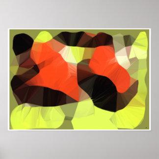 Poster surrealista del arte de la yogui del