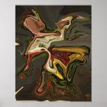 Poster surrealista del arte moderno del extracto d