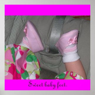 "Poster ""Sweet Baby Feet"""