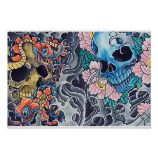 "Poster ""Tatto Skull """