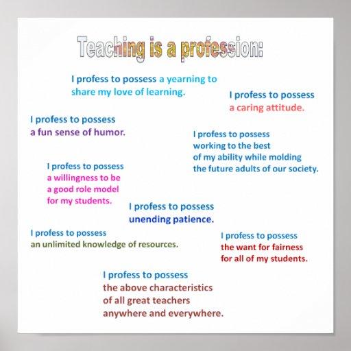 POSTER.TEACHING ES UN PROFESSION1.3