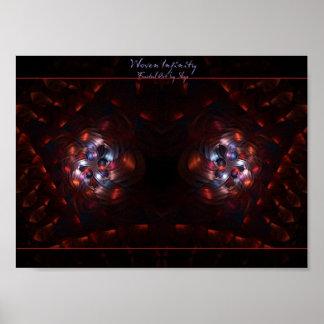 Poster tejido del arte del fractal del infinito