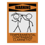 Poster temperamental amonestador de ContrabassClar