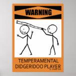 Poster temperamental amonestador del jugador de Di