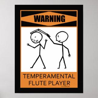 Poster temperamental amonestador del jugador de fl