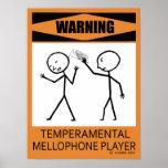 Poster temperamental amonestador del jugador de Me