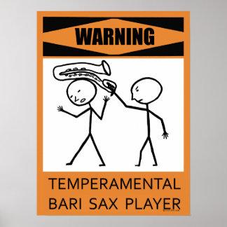 Poster temperamental amonestador del jugador de sa