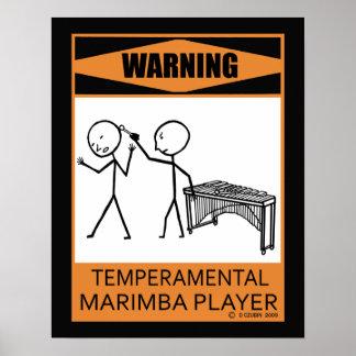 Poster temperamental amonestador del jugador del M